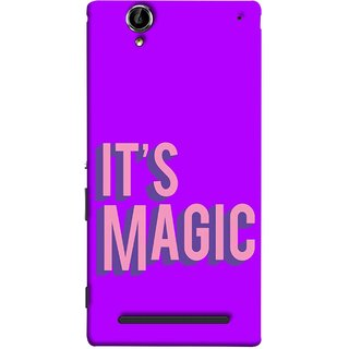 FUSON Designer Back Case Cover for Sony Xperia T2 Ultra :: Sony Xperia T2 Ultra Dual SIM D5322 :: Sony Xperia T2 Ultra XM50h (Lovely Wow Fact Motivational Inspirational Words)
