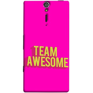 FUSON Designer Back Case Cover for Sony Xperia SL :: Sony Xperia S :: Sony Xperia SL LT26I LT26ii (Teamwork Is Best Hardwork Alltogether Result Best)