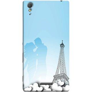 FUSON Designer Back Case Cover for Sony Xperia T3 (Eiffel Tower True Love Couples Kisses Sky )