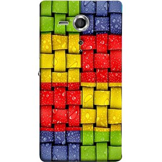 FUSON Designer Back Case Cover for Sony Xperia SP :: Sony Xperia SP HSPA C5302 :: Sony Xperia SP LTE C5303 :: Sony Xperia SP LTE C5306 (Bright And Beautiful Colour Strips And Band Wave )