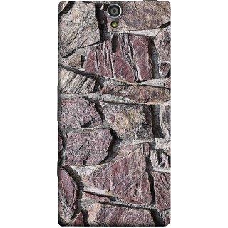FUSON Designer Back Case Cover for Sony Xperia SL :: Sony Xperia S :: Sony Xperia SL LT26I LT26ii (Sandstone Bricks Of Irregular Shapes Slotting Together )