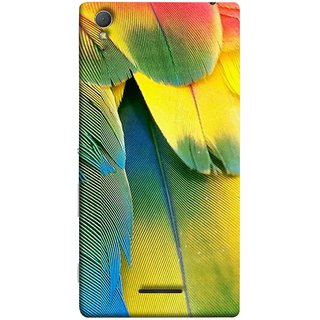 FUSON Designer Back Case Cover for Sony Xperia T3 (Birds Feathers Parrot Peacock Best Back Cover )