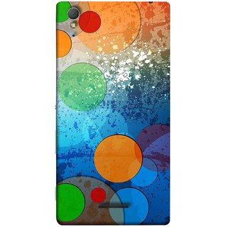 FUSON Designer Back Case Cover for Sony Xperia T3 (Lot Small Big Circles Glass Door Table )