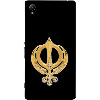 FUSON Designer Back Case Cover for Sony Xperia XA :: Sony Xperia XA Dual (Khalsa Khanda Guru Nanak Sikh Pendant Diamonds)