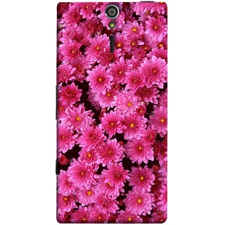FUSON Designer Back Case Cover for Sony Xperia SL :: Sony Xperia S :: Sony Xperia SL LT26I LT26ii (Thousands Flowers Magenta Mums Nature Pink)
