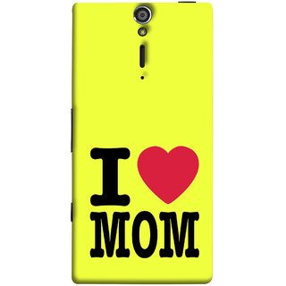 FUSON Designer Back Case Cover for Sony Xperia SL :: Sony Xperia S :: Sony Xperia SL LT26I LT26ii (Yellow Background Mother Hearts Pure And True Love)