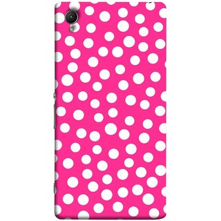 FUSON Designer Back Case Cover for Sony Xperia XA :: Sony Xperia XA Dual (Small Bubbles Marbles Circle Pink Board)