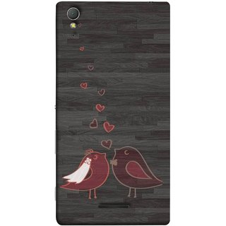 FUSON Designer Back Case Cover for Sony Xperia T3 (Lovely Pair Of Cute Birds Kissing Hairband )