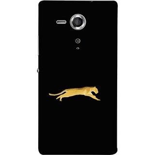 FUSON Designer Back Case Cover for Sony Xperia SP :: Sony Xperia SP HSPA C5302 :: Sony Xperia SP LTE C5303 :: Sony Xperia SP LTE C5306 (Wild Jungle Tigers Whisker Roaring Sitting Safari India)