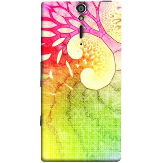 FUSON Designer Back Case Cover for Sony Xperia SL :: Sony Xperia S :: Sony Xperia SL LT26I LT26ii (Colourful Art Design River Shape Random Perfect)