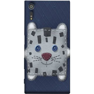 FUSON Designer Back Case Cover for Sony Xperia XR (Cloth Embroidered Shirt Jacket Patch Mouse Iron Sew)