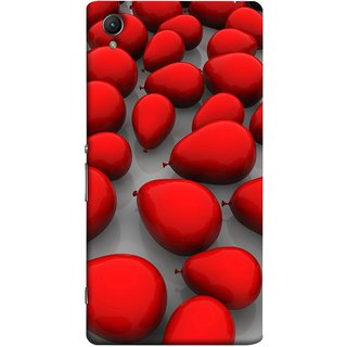 FUSON Designer Back Case Cover for Sony Xperia X :: Sony Xperia X Dual F5122 (Balloons Red Love Dark Gift Motivational)