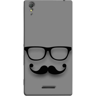 FUSON Designer Back Case Cover for Sony Xperia T3 (Mustache Glasses T-ShirtYoung Boys Back Cover)