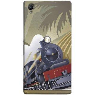 FUSON Designer Back Case Cover for Sony Xperia XA :: Sony Xperia XA Dual (British Steam Engine Trains Express Mail )