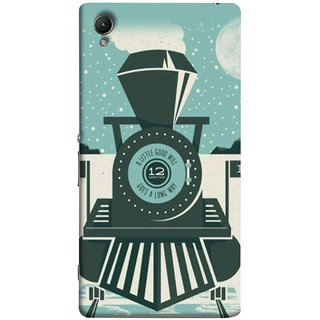 FUSON Designer Back Case Cover for Sony Xperia XA :: Sony Xperia XA Dual (Train Engine Smoke Little Good Will Goes Long Way)