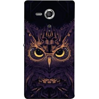 FUSON Designer Back Case Cover for Sony Xperia SP :: Sony Xperia SP HSPA C5302 :: Sony Xperia SP LTE C5303 :: Sony Xperia SP LTE C5306 (Big Eye Danger Perfect Owl Bird Mysterious)