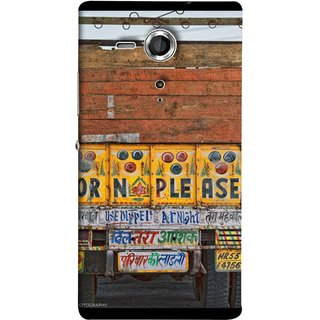 FUSON Designer Back Case Cover for Sony Xperia SP :: Sony Xperia SP HSPA C5302 :: Sony Xperia SP LTE C5303 :: Sony Xperia SP LTE C5306 (Decorated Goods Carrier On Indian Road Stop Dil Tera)