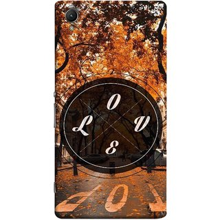 FUSON Designer Back Case Cover for Sony Xperia X :: Sony Xperia X Dual F5122 (Love Everywhere Stay Long Life Always Road Lovers )