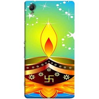 FUSON Designer Back Case Cover for Sony Xperia XA :: Sony Xperia XA Dual (Wallpaper Vector Beautiful Vector Diwali Diya)