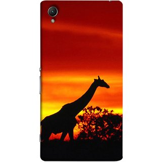 FUSON Designer Back Case Cover for Sony Xperia X :: Sony Xperia X Dual F5122 (Africa Sunset Giraffe Evening Wildlife Animals )