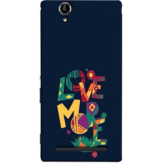 FUSON Designer Back Case Cover for Sony Xperia T2 Ultra :: Sony Xperia T2 Ultra Dual SIM D5322 :: Sony Xperia T2 Ultra XM50h (I Love You Always Lovers Valentine Hearts Kiss )