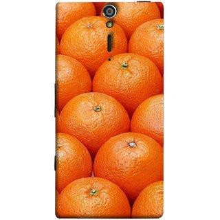 FUSON Designer Back Case Cover for Sony Xperia SL :: Sony Xperia S :: Sony Xperia SL LT26I LT26ii (Countryside Scent Of Orange Blossoms Citrun )