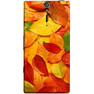 FUSON Designer Back Case Cover for Sony Xperia SL :: Sony Xperia S :: Sony Xperia SL LT26I LT26ii (Multicolour Dry Leaves Painting Bright Sunny Day )