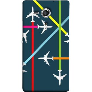 FUSON Designer Back Case Cover for Sony Xperia SP :: Sony Xperia SP HSPA C5302 :: Sony Xperia SP LTE C5303 :: Sony Xperia SP LTE C5306 (Aeropalnes Flights Schedules Origin Destination Map)