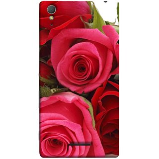 FUSON Designer Back Case Cover for Sony Xperia T3 (Close Up Red Roses Chocolate Hearts For Valentines Day)