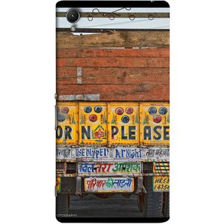 FUSON Designer Back Case Cover for Sony Xperia X :: Sony Xperia X Dual F5122 (Decorated Goods Carrier On Indian Road Stop Dil Tera)