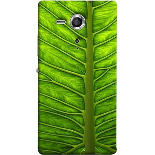 FUSON Designer Back Case Cover for Sony Xperia SP :: Sony Xperia SP HSPA C5302 :: Sony Xperia SP LTE C5303 :: Sony Xperia SP LTE C5306 (Bright Green Leaf Of Tree Full Of Life Network Of Veins)