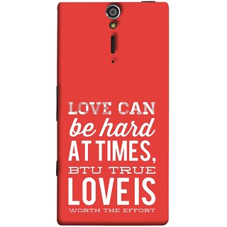 FUSON Designer Back Case Cover for Sony Xperia SL :: Sony Xperia S :: Sony Xperia SL LT26I LT26ii (Love Is Worth The Effort Pure Lovers Hearts)