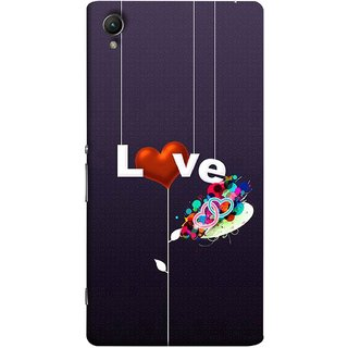 FUSON Designer Back Case Cover for Sony Xperia X :: Sony Xperia X Dual F5122 (Hearts Hanging Ropes Free Love Tree Multicolour)