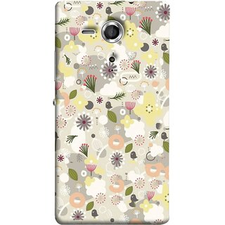 FUSON Designer Back Case Cover for Sony Xperia SP :: Sony Xperia SP HSPA C5302 :: Sony Xperia SP LTE C5303 :: Sony Xperia SP LTE C5306 (Elegant Gentle Trendy Pattern In Small Scale Flower)