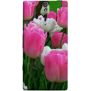 FUSON Designer Back Case Cover for Sony Xperia SL :: Sony Xperia S :: Sony Xperia SL LT26I LT26ii (Roses Flowers Fresh And Nice Best Wallpaper Designs)