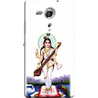 FUSON Designer Back Case Cover for Sony Xperia SP :: Sony Xperia SP HSPA C5302 :: Sony Xperia SP LTE C5303 :: Sony Xperia SP LTE C5306 (Goddess Of Knowledge Eloquence Learning Saraswati)