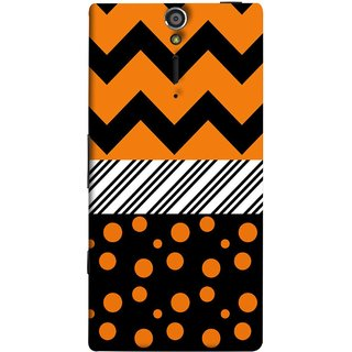 FUSON Designer Back Case Cover for Sony Xperia SL :: Sony Xperia S :: Sony Xperia SL LT26I LT26ii (Pack Craft PaperOrange Dots On Black Background)