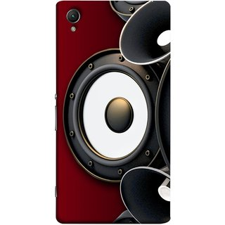 FUSON Designer Back Case Cover for Sony Xperia X :: Sony Xperia X Dual F5122 (Black Speaker Music Listen Youth Boys)