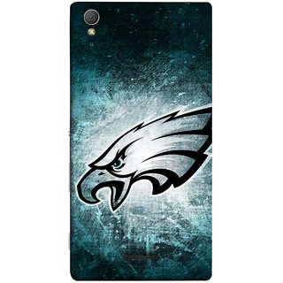 FUSON Designer Back Case Cover for Sony Xperia T3 (Universe Background Blue Dots Strong Eagle Champion)