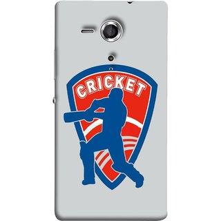 FUSON Designer Back Case Cover for Sony Xperia SP :: Sony Xperia SP HSPA C5302 :: Sony Xperia SP LTE C5303 :: Sony Xperia SP LTE C5306 (County Cricket India Aus England Bat Ball Batsman)
