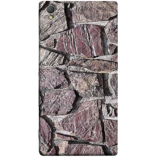 FUSON Designer Back Case Cover for Sony Xperia T3 (Sandstone Bricks Of Irregular Shapes Slotting Together )