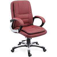 AE Designs - Medium  Back Office Chair with PP Mettalic Chrome Arms and Chrome Base