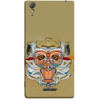 FUSON Designer Back Case Cover for Sony Xperia T3 (Multicolour Cat Monkey King Animal Tree )