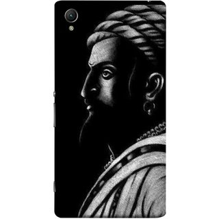 FUSON Designer Back Case Cover for Sony Xperia X :: Sony Xperia X Dual F5122 (Chatrapati Shivaji Maharaj Sideview Jiretop With Beard)