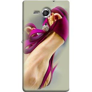 FUSON Designer Back Case Cover for Sony Xperia SP :: Sony Xperia SP HSPA C5302 :: Sony Xperia SP LTE C5303 :: Sony Xperia SP LTE C5306 (Nice Shoes Design Red Nailpolish Womens Girls Females )