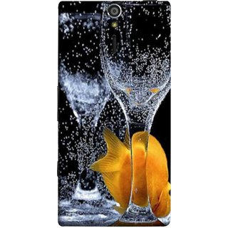 FUSON Designer Back Case Cover for Sony Xperia SL :: Sony Xperia S :: Sony Xperia SL LT26I LT26ii (3D Water Splash Illustration Fuzzy Bubbles Unique)