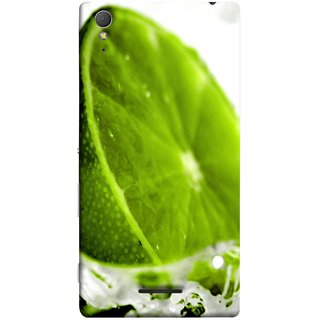 FUSON Designer Back Case Cover for Sony Xperia T3 (Lemon Lime Sweet Agriculture Farm Fresh Cut Cell)