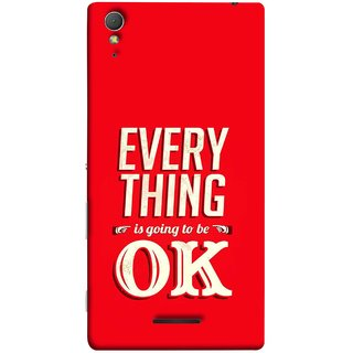 FUSON Designer Back Case Cover for Sony Xperia T3 (All Will Be Fine Just Stay Happy Smiley Be )