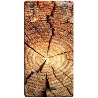 FUSON Designer Back Case Cover for Sony Xperia T3 (Lot Of Cracks In Tree Wood Wild Old Tree)