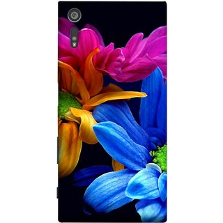FUSON Designer Back Case Cover for Sony Xperia XR (Colourful Wow Hd Gerbera Flowers Pink Blur Orange)